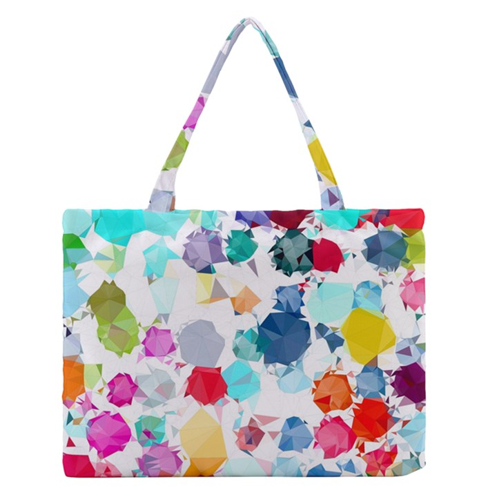 Colorful Diamonds Dream Medium Zipper Tote Bag