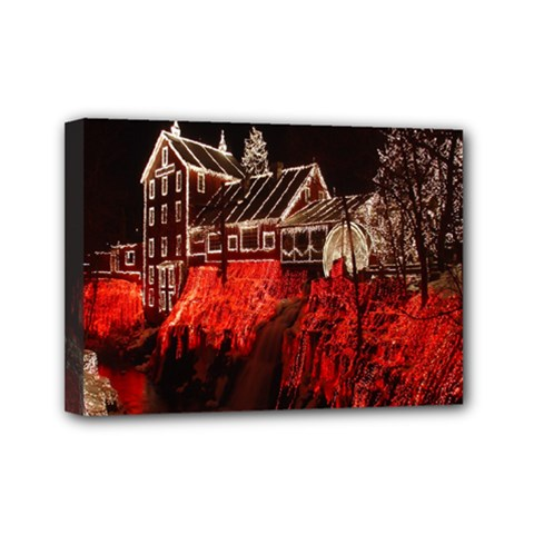 Clifton Mill Christmas Lights Mini Canvas 7  x 5