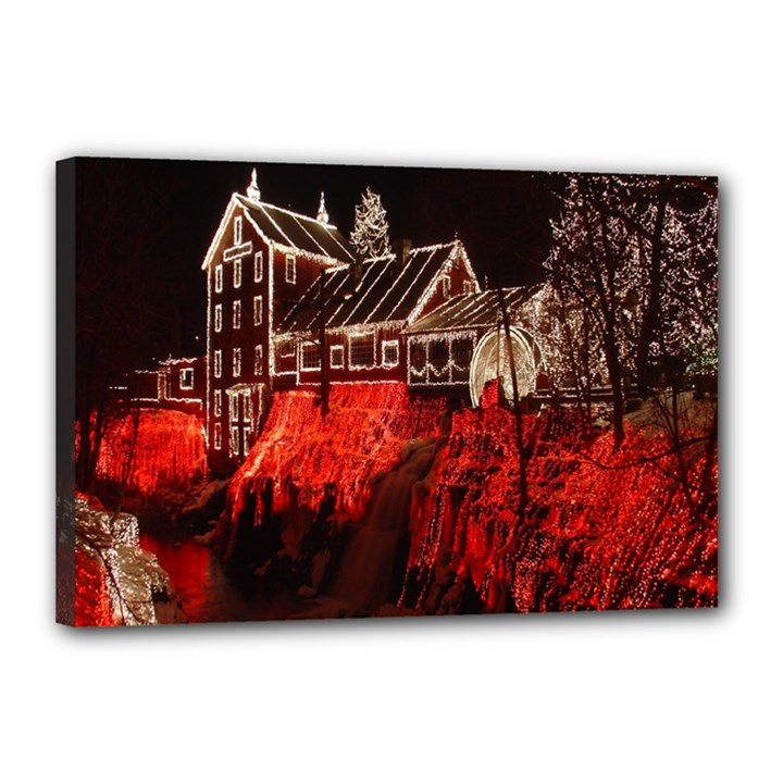 Clifton Mill Christmas Lights Canvas 18  x 12