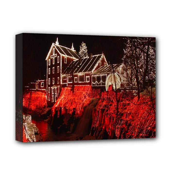 Clifton Mill Christmas Lights Deluxe Canvas 16  x 12