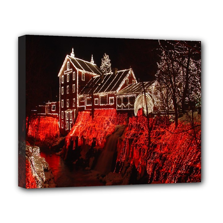 Clifton Mill Christmas Lights Deluxe Canvas 20  x 16