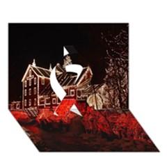 Clifton Mill Christmas Lights Ribbon 3D Greeting Card (7x5)