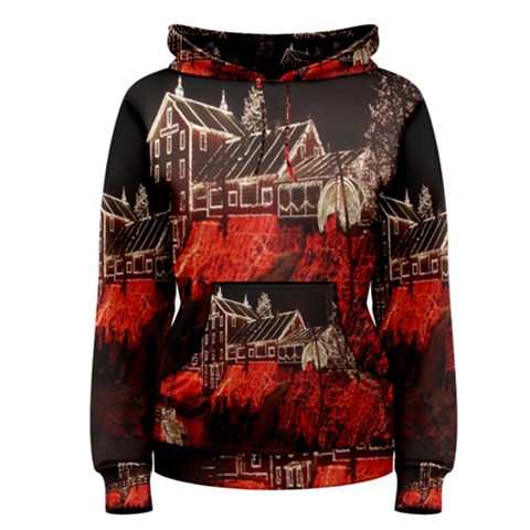 Clifton Mill Christmas Lights Women s Pullover Hoodie