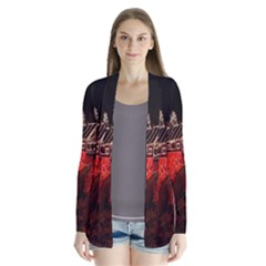 Clifton Mill Christmas Lights Drape Collar Cardigan