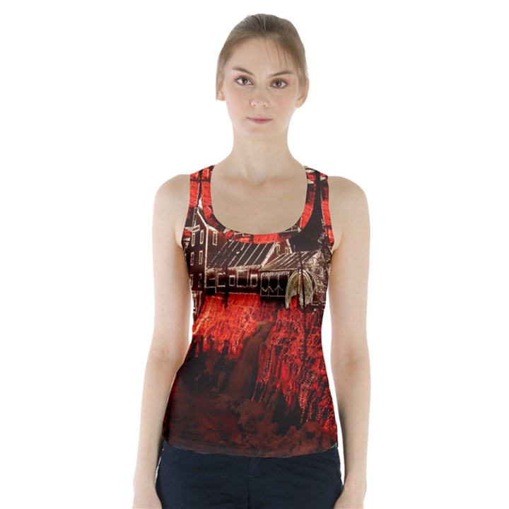 Clifton Mill Christmas Lights Racer Back Sports Top