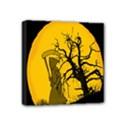 Death Haloween Background Card Mini Canvas 4  x 4  View1
