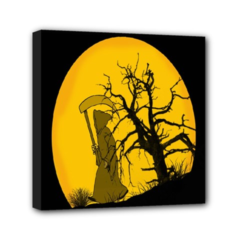 Death Haloween Background Card Mini Canvas 6  x 6