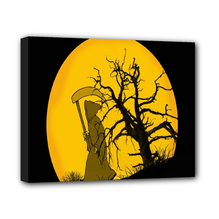 Death Haloween Background Card Canvas 10  x 8