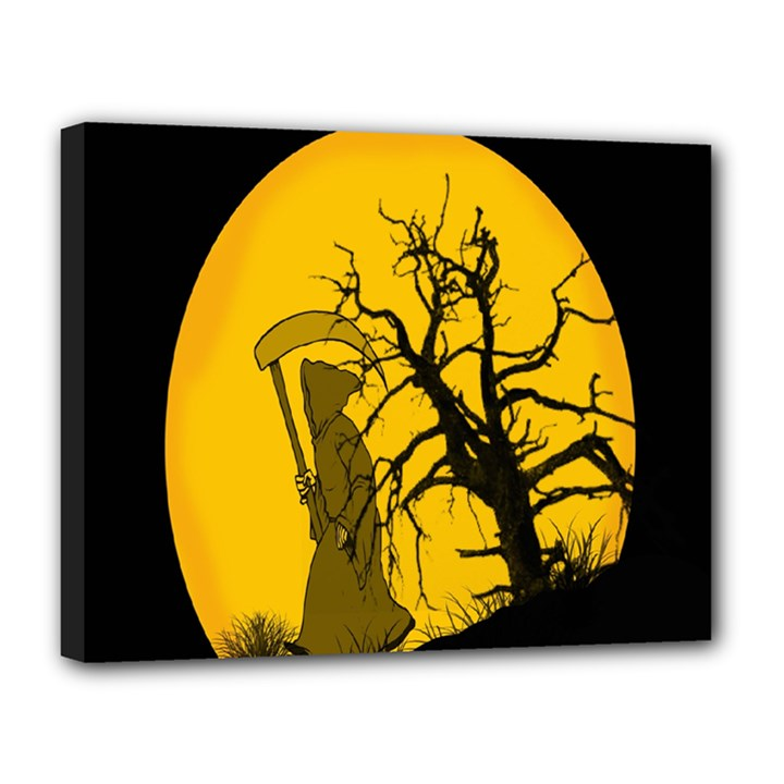 Death Haloween Background Card Canvas 14  x 11