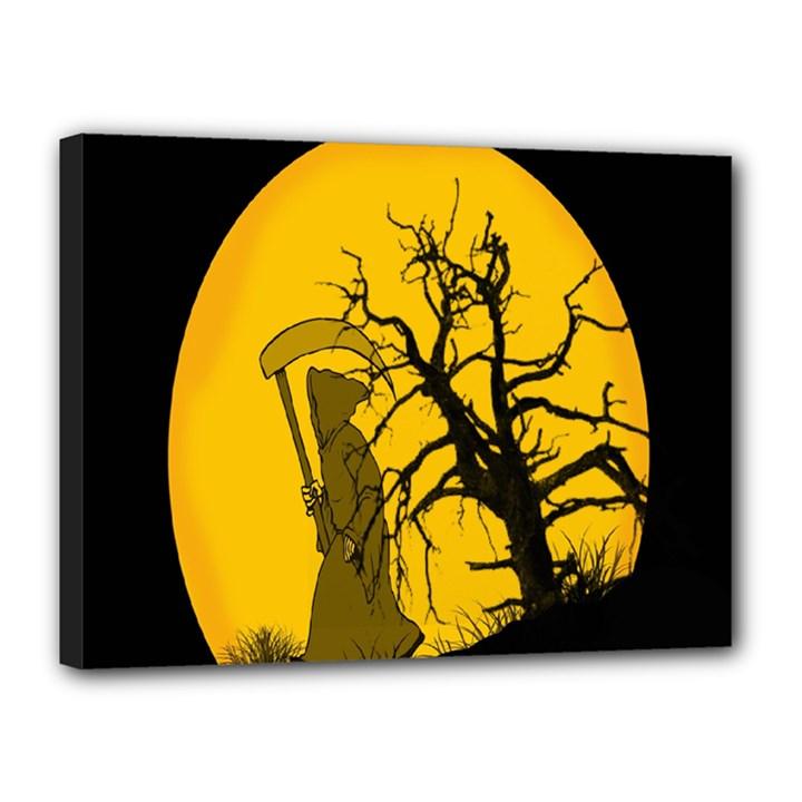 Death Haloween Background Card Canvas 16  x 12
