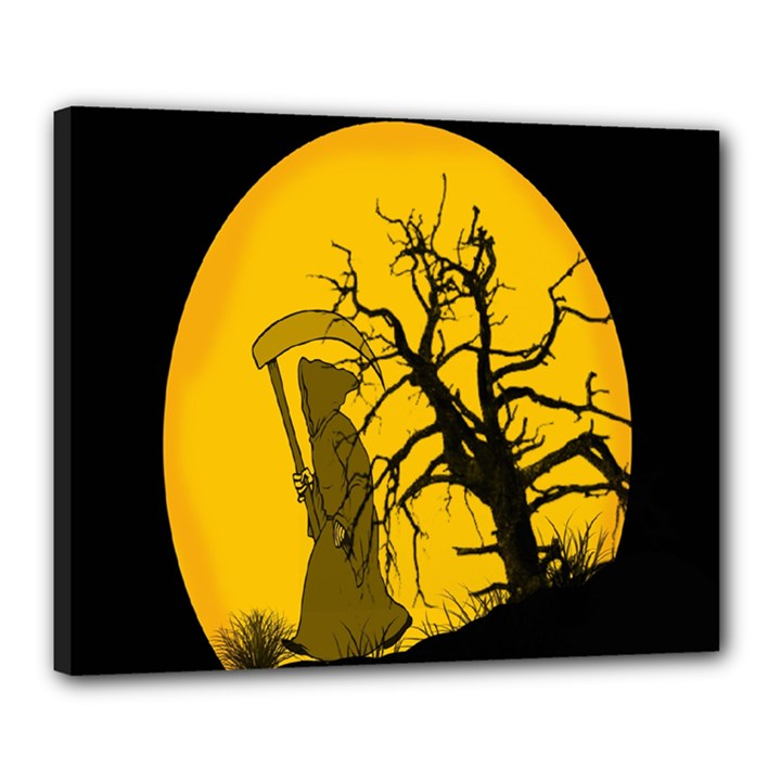 Death Haloween Background Card Canvas 20  x 16