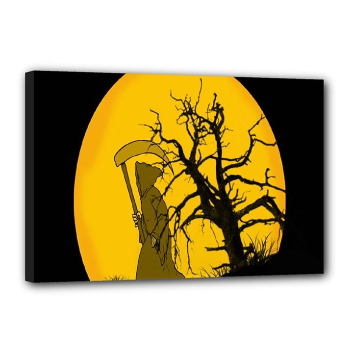 Death Haloween Background Card Canvas 18  x 12