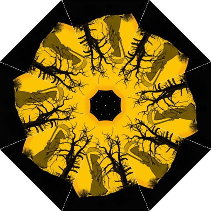 Death Haloween Background Card Straight Umbrellas