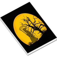 Death Haloween Background Card Large Memo Pads