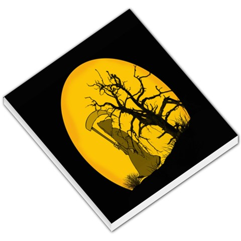 Death Haloween Background Card Small Memo Pads