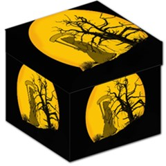 Death Haloween Background Card Storage Stool 12