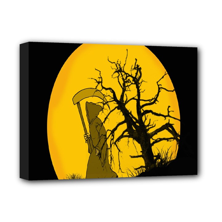 Death Haloween Background Card Deluxe Canvas 16  x 12