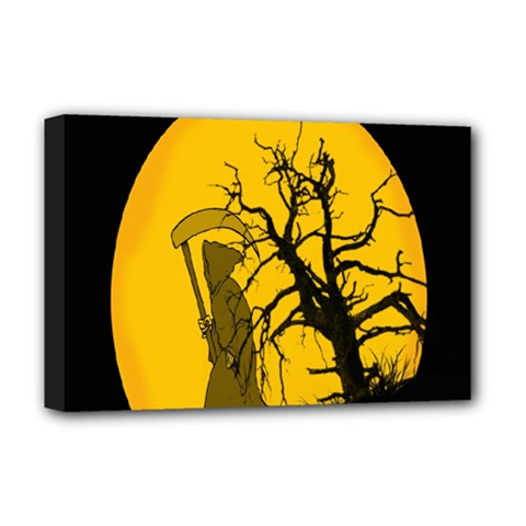 Death Haloween Background Card Deluxe Canvas 18  x 12