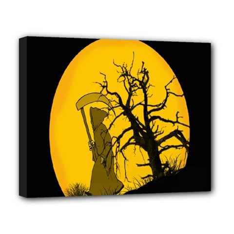 Death Haloween Background Card Deluxe Canvas 20  x 16