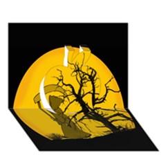 Death Haloween Background Card Apple 3D Greeting Card (7x5)