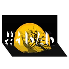 Death Haloween Background Card #1 DAD 3D Greeting Card (8x4)