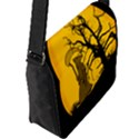 Death Haloween Background Card Flap Messenger Bag (L)  View2
