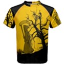 Death Haloween Background Card Men s Cotton Tee View1