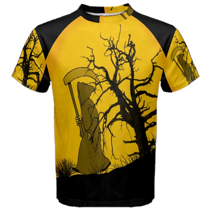 Death Haloween Background Card Men s Cotton Tee