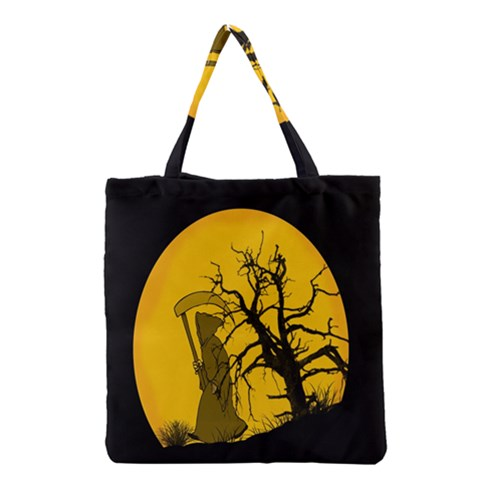 Death Haloween Background Card Grocery Tote Bag