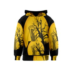 Death Haloween Background Card Kids  Zipper Hoodie