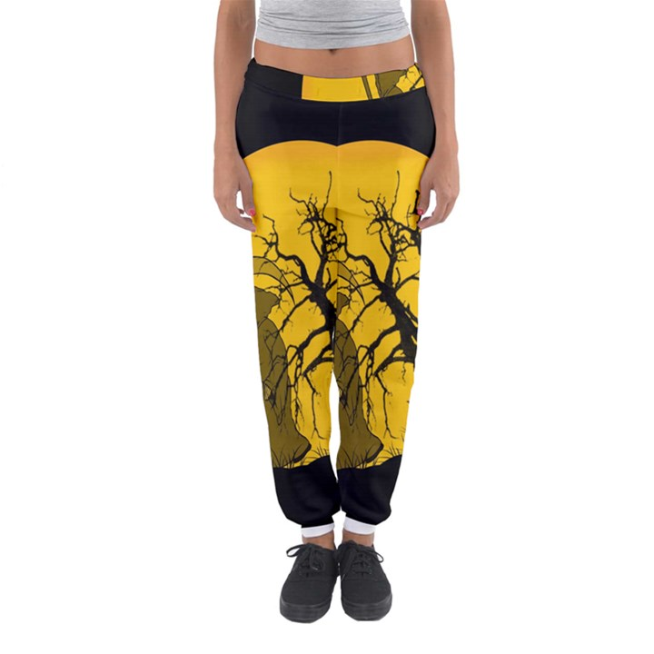 Death Haloween Background Card Women s Jogger Sweatpants