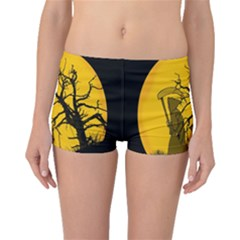 Death Haloween Background Card Boyleg Bikini Bottoms