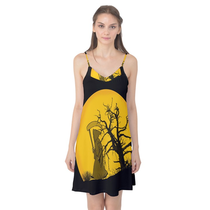 Death Haloween Background Card Camis Nightgown