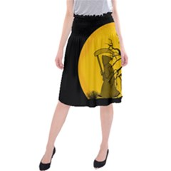Death Haloween Background Card Midi Beach Skirt