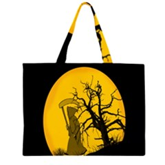 Death Haloween Background Card Large Tote Bag