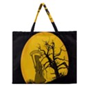 Death Haloween Background Card Zipper Large Tote Bag View1