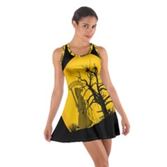 Death Haloween Background Card Cotton Racerback Dress