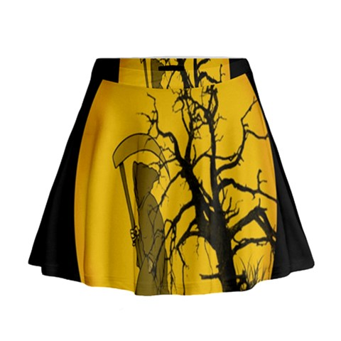 Death Haloween Background Card Mini Flare Skirt
