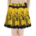Death Haloween Background Card Pleated Mini Skirt View1