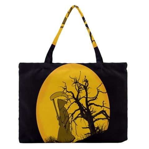 Death Haloween Background Card Medium Zipper Tote Bag