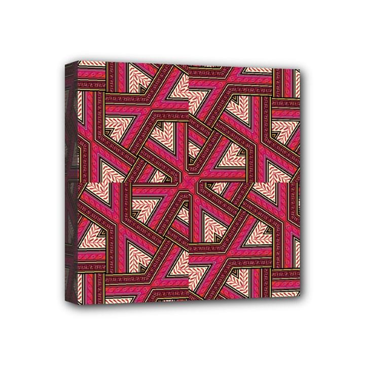 Digital Raspberry Pink Colorful  Mini Canvas 4  x 4