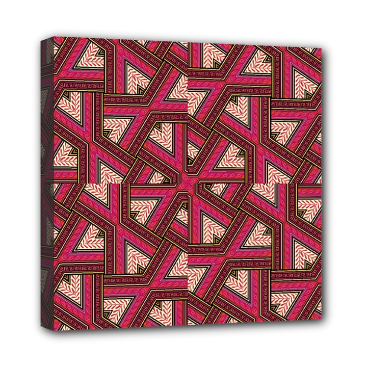 Digital Raspberry Pink Colorful  Mini Canvas 8  x 8