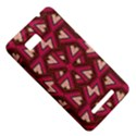 Digital Raspberry Pink Colorful  HTC One SU T528W Hardshell Case View5