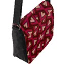 Digital Raspberry Pink Colorful  Flap Messenger Bag (L)  View2