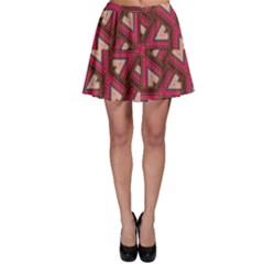 Digital Raspberry Pink Colorful  Skater Skirt