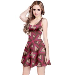 Digital Raspberry Pink Colorful  Reversible Sleeveless Dress