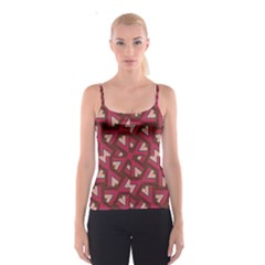 Digital Raspberry Pink Colorful  Spaghetti Strap Top