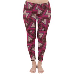 Digital Raspberry Pink Colorful  Winter Leggings