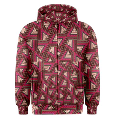 Digital Raspberry Pink Colorful  Men s Zipper Hoodie