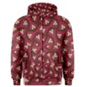Digital Raspberry Pink Colorful  Men s Zipper Hoodie View1